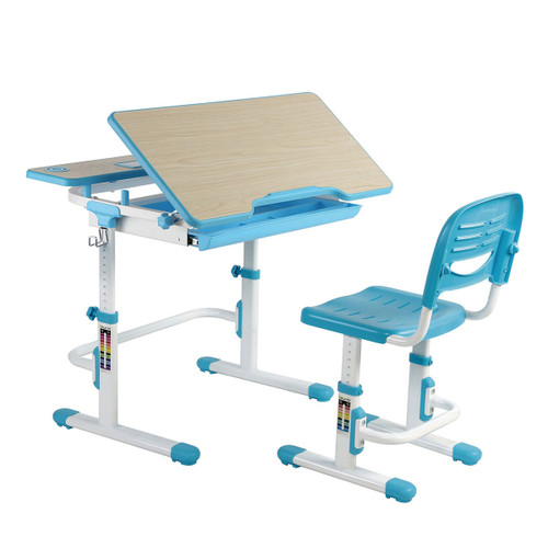 EFurnit Height Adjustable Children's Table and Chair Set, Blue - Saturn Series Ergonomic Desk & Chair for Kids 1