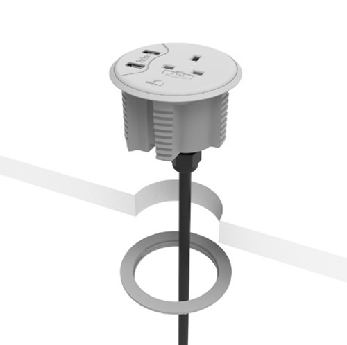 CMD PortHole Desktop Power And USB Module