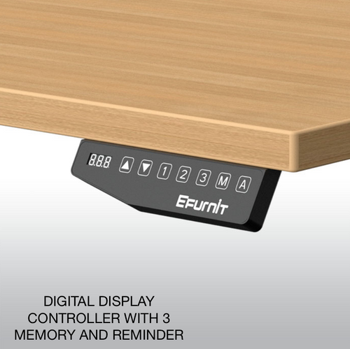 EFurnit Alpine Standing Desk- Home office Ergonomic Height adjustable Electric Sit/Stand desk, Dual motor,white top , white frame, smart