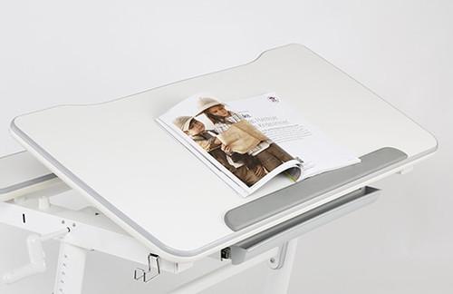 EFurnit Ceres Series Height Adjustable Study Desk for Teens, Blue - Ergonomic & Tiltable Study Workstation - Full Width Tilt 980mm X 705mm , grey, pink, blue, children, teen, kids, workstation