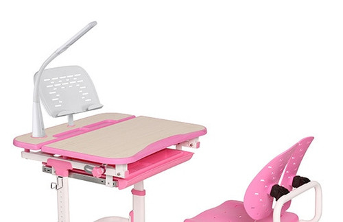 EFurnit Height Adjustable Children's Table and Chair Set, Ergonomic Desk & Chair set  for Kids - Pluto Series, pink, blue, gray,grey