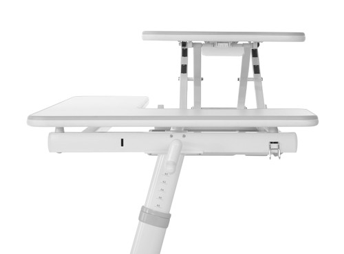 EFurnit Ceres Pro Series Height Adjustable Study Desk for Teens - Ergonomic Study Workstation,  Lift Top with Side Surface