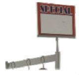 Clothing Rack Sign Holders