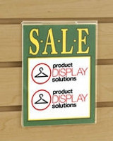 Slat Wall Sign Holders