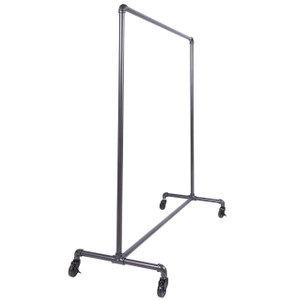 "60"" Single Rail Ballet Bar Pipe Clothing Rack 