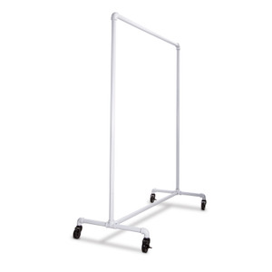 51 Pipe Clothing Rack  Gloss White