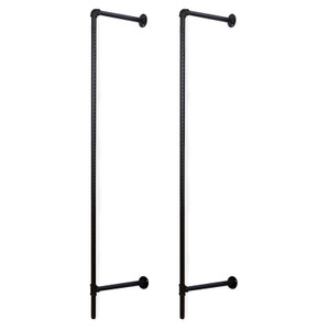"""Wall Mounted Pipeline Display – 90"""" High and 16"""" From The Wall – Matt Black"""