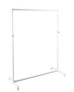 "48"" Single Rail Ballet Bar Pipe Clothing Rack | MATTE WHITE"