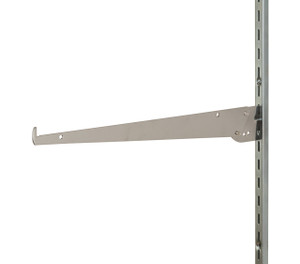 14 Adjustable Shelf Bracket  FOR  12 SLOTS ON 1 CENTER STANDARD  CHROME