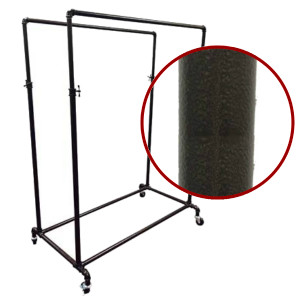 Double Rail Pipe Clothing Rack | COPPERVEIN