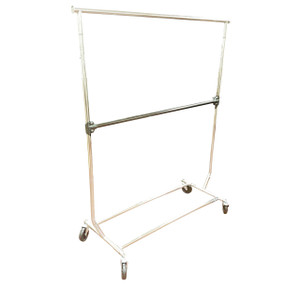 Add On Hangrail for Single Rial Collapsible Salesman Rack  Chrome