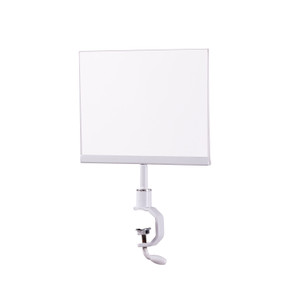 5.5H x 7W Sign Holder for Pipe Rack  Gloss White