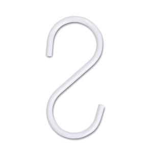 S Hooks for Pipeline Clothes Racks  Pack of 50  Gloss White