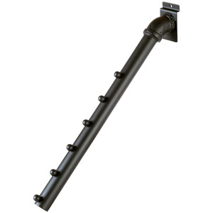 6 Ball Pipeline Faceout Arm For Slatwall - Matt Black