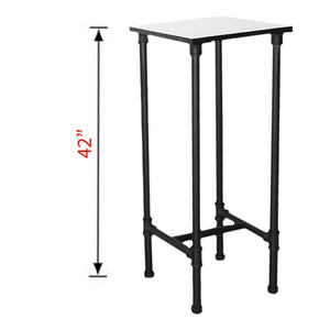 Large Pipeline Nesting Tower Display Table - MATT BLACK