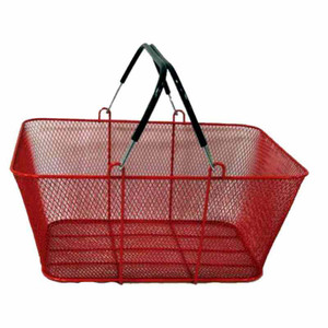 Wire Mesh Shopping Baskets RED