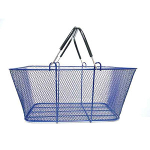 Wire Mesh Shopping Baskets BLUE