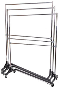 5ft Long Doubler Rail Z Rack | Adjustable Height | Black Base