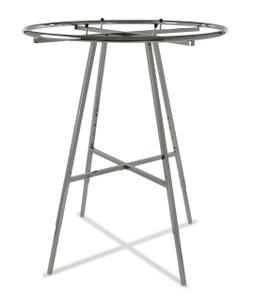 "Round Clothing Rack with 42"" (dim) Round Hangrail | Chrome"