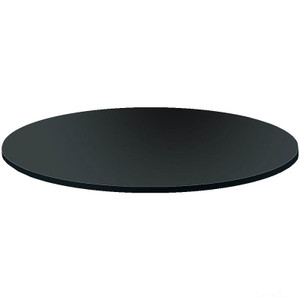 Black Wood Topper For Round Rack | Black