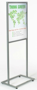 "14"" x 22"" Bulletin Sign Holder  Square Tubing 