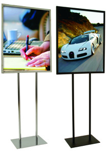 "22"" x 28"" Metal Twin Stem Bulletin Sign Holder 