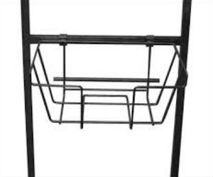 Wire Basket Literature Holder for Bulletin Sign Holders  Black