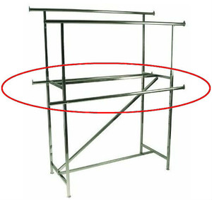 "60"" L Add-on Rail For Double Rail Clothing Rack 
