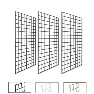 2' X 4' Gridwall Panels | Black, White or Chrome