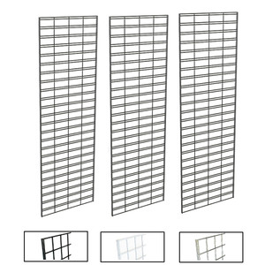 2' X 6' Slatgrid Panels | Black, White or Chrome