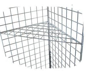 Gridwall Triangular Corner Shelf   Black, White or Chrome