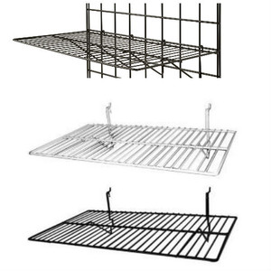 "Gridwall Flat Shelf 24"" x 12"" 