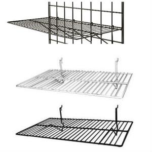 "Gridwall Flat Shelf 24"" x 12"" | Black or White"