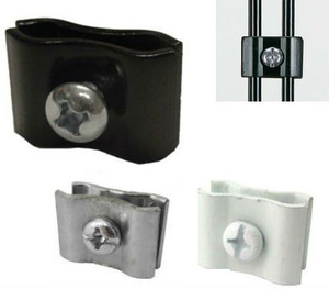 Gridwall Panel Connectors | Black, White or Chrome