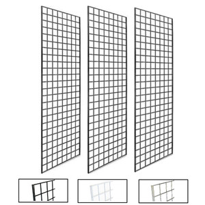 2' X 6' Gridwall Panels | Black, White or Chrome