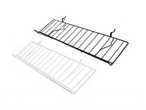 "Slatwall Slanted Shelf 8"" x 23"" 