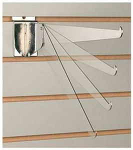 "Slatwall 14"" Metal Adjustable Shelf Brackets 