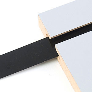 "Decorative Slatwall Vinyl Inserts | BLACK 128'L Roll x 1 1/4"" Height"