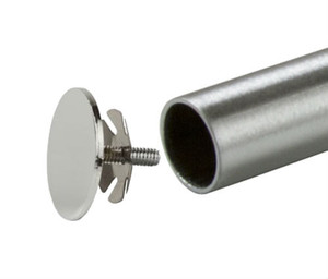 End Cap for 1.25'' Diameter Round Hangrail Tubing | Chrome