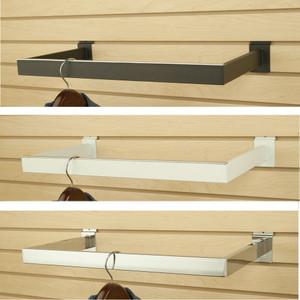 Slatwall U Shapped Hangrail | Black, White or Chrome