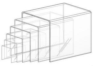 Acrylic U Shaped Display Risers | SET OF 6
