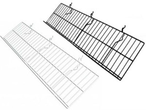 "Gridwall Slanted Shelf 10"" x 46"" 