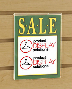 "7""H x 5.5""W Slatwall Acrylic Sign Holder"