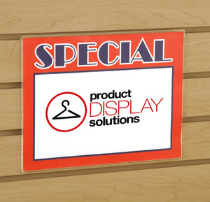"8.5""H X 11""W Slatwall Acrylic Sign Holder"