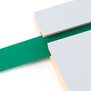 "Decorative Slatwall Vinyl Inserts | GREEN 128'L Roll x 1 1/4"" Height"