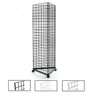 Gridwall Three Sided Free Standing Rolling Display
