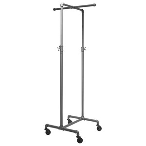 2 Way Adjustable Height Pipe Clothing Rack