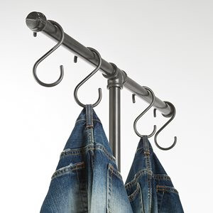 """S"" Hooks for Pipeline Clothing Racks 0"
