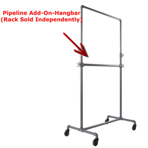 Pipeline Clothing Rack Add-On-Hangbar | GREY