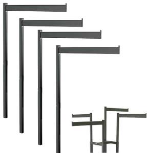 Texture Black Rectangular Straight Replacement Arms for 2 & 4 Way Racks